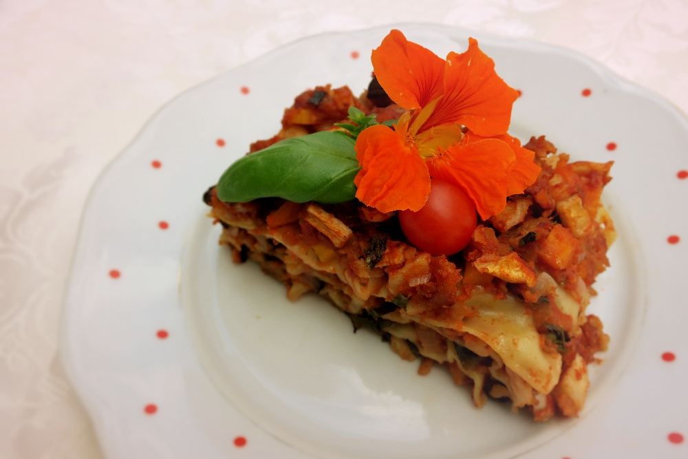 Zeleninové lasagne s robi masem