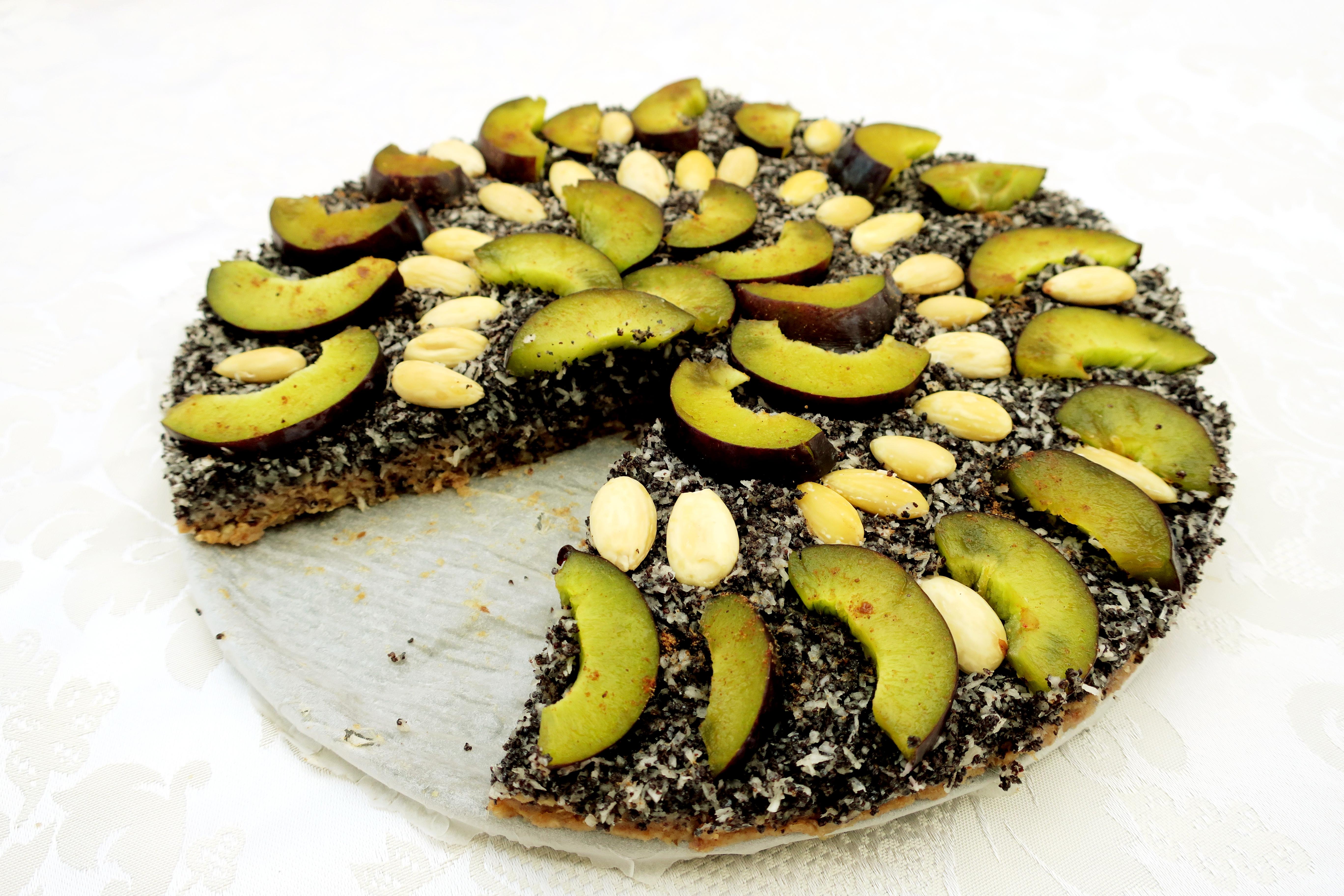 Raw makový dort